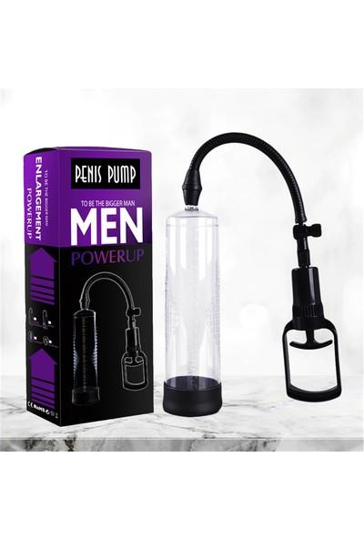 Penis Pump Men Güçlü Vakumlu Penis Pompası Silikon Başlıklı