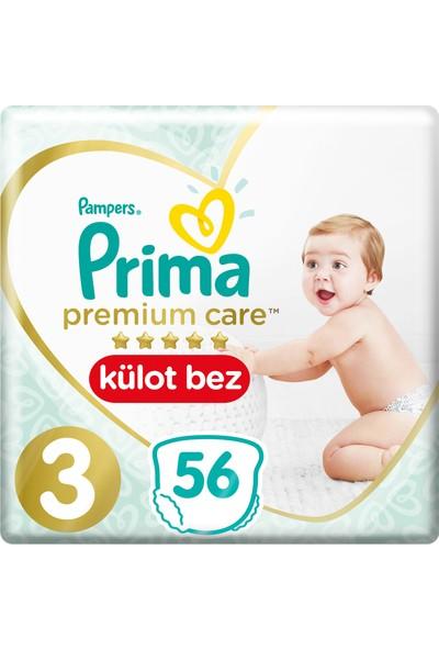 Prima Premium Care Külot Bebek Bezi 3 Beden 56 Adet Midi İkiz Paket