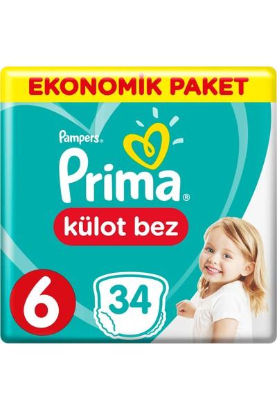 Prima Külot Bebek Bezi 6 Beden 34 Adet Ekstra Large Ekonomik Paket