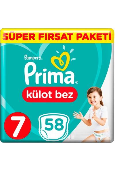 Prima Külot Bez 7 Beden 58 Adet Süper Fırsat Paketi
