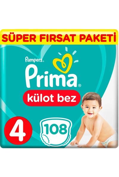 Prima Külot Bebek Bezi 4 Beden 108 Adet Maxi Süper Fırsat Paketi
