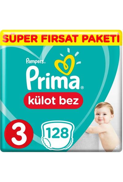 Prima Külot Bebek Bezi 3 Beden 128 Adet Midi Süper Fırsat Paketi