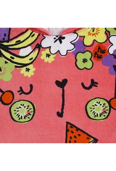 Tuc Tuc Kız Çocuk Meyveli Panço Havlu Fruit Festival