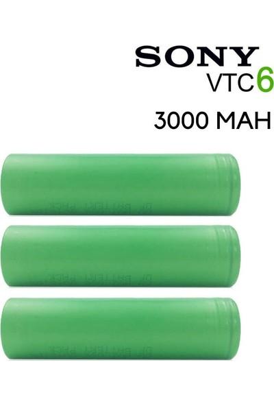 Sony Vtc6 18650 3.7V 3000 Mah Li-Ion 3'lü Şarjlı Pil