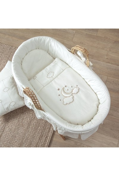 Funna Baby Hasır Sepet Seti Luna Elegant / kod:0415