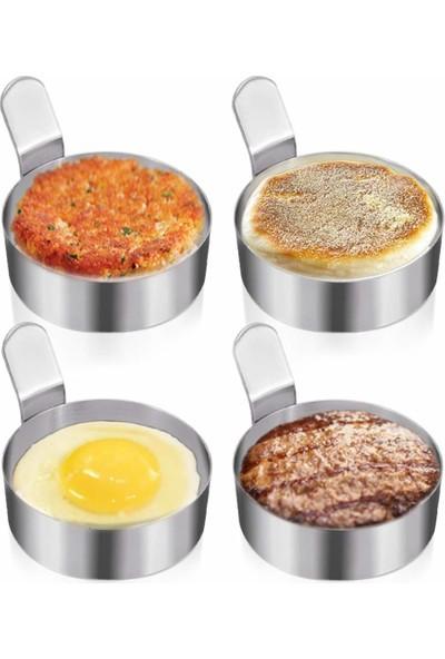 Narkalıp Yuvarlak Omlet ve Krep Pişirme Kalıbı 4 Adet En-7,5cm