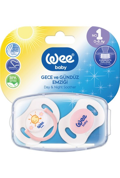 Wee Baby Gece ve Gündüz Emziği No:1 0-6 Ay