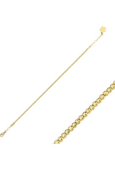 Aypa Mücevher Dorika Sarı Altın Bileklik