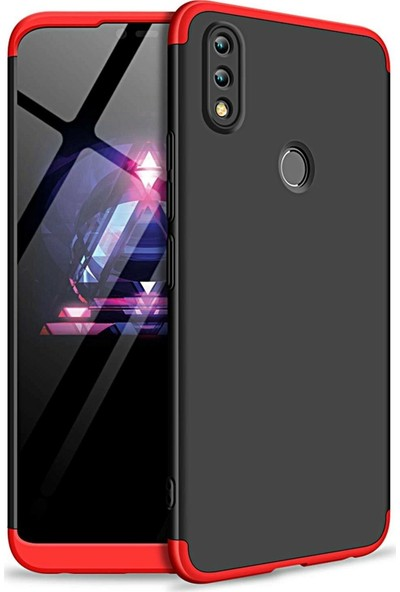 Aksesuarkolic Huawei Y7 2019 Kılıf 3 Parca 360 Ays Kapak+Nano Cam Ekran Koruyucu Renkli