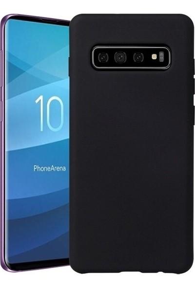 Aksesuarkolic Samsung Galaxy S10E Premium Silikon Kılıf Siyah