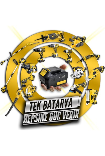 RTRMAX RTX1815 18V 2Ah Çift Akülü Matkap