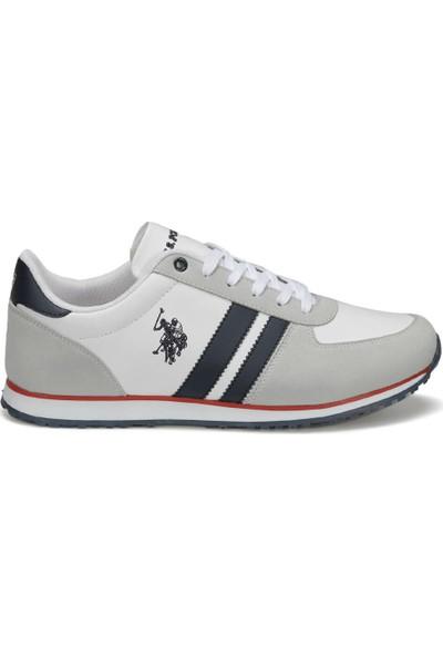 U.S. Polo Assn. Plus Wt 9Pr Beyaz Erkek Sneaker Ayakkabı