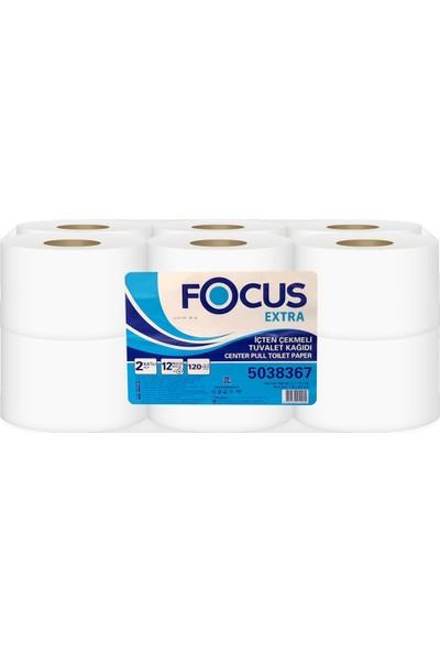 Focus Extra Içten Çekmeli Tuvalet Kağıdı 120 mt Koli 12 Rulo