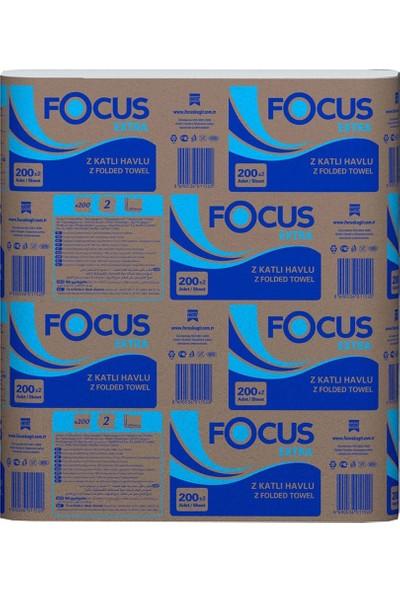 Focus Extra Z Katlamalı Dispenser Havlu 200 Yaprak Koli Içi 12 Paket