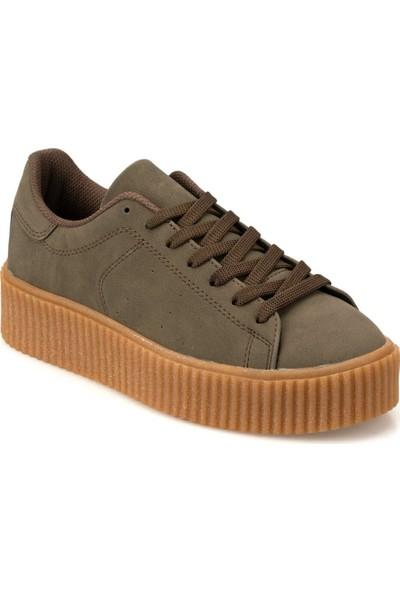 Kinetix Kıno 9Pr Haki Kadın Sneaker Ayakkabı