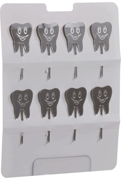 PartiPan Diş Buğdayı Pleksi Kürdan Gümüş 8'li