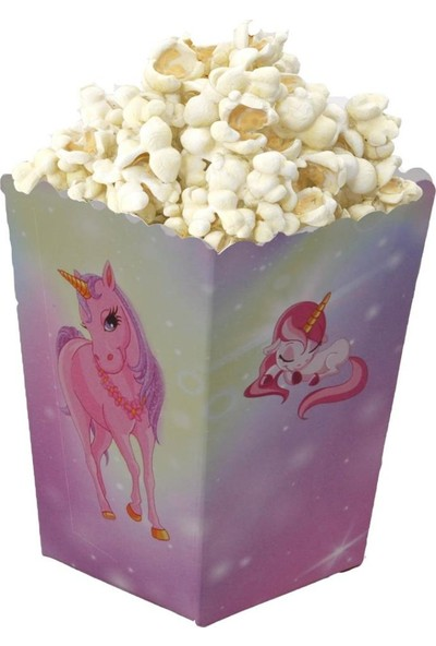 PartiPan Unicorn Temalı Mısır Popcorn Kutusu 10'lu