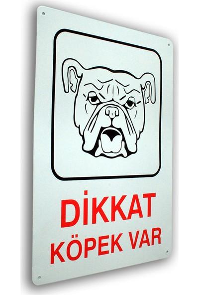Adi̇lon Dikkat Köpek Var 25.5 x 36 cm Metal İş Güvenliği Levhası