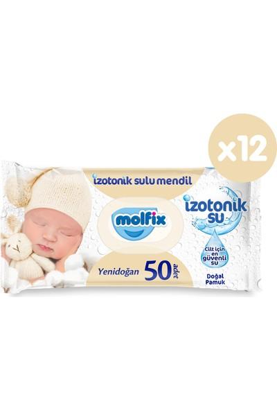 Molfix İzotonik Sulu Islak Mendil Yenidoğan 600' lü