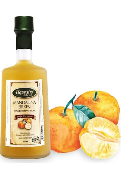 Havrano Doğal Fermente Mandalina Sirkesi 500 ml