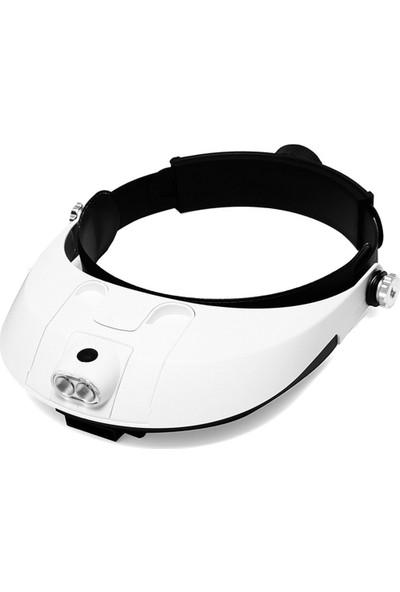 Microcase Kafa Ayarlı Gözlük Tipi Işıklı Kafa Büyüteci 5 Farklı Lens Mg81001-G - Model No : Al2322