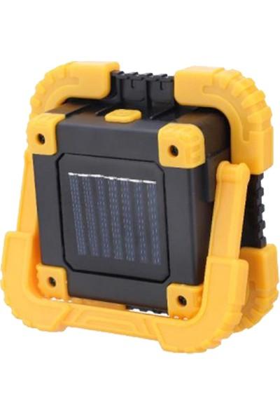 Twinix Solar Aydınlatma Taşınabilir Fener Işık Gücü 80W ile Eşdeğer