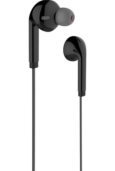 Vidvie HS619 Kulakiçi Yassı Kablolu Mikrofonlu Kulaklık - Siyah