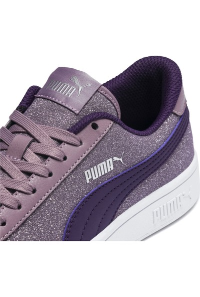 Puma Smash V2 Glitz Glam İndigo Gri Kadın Sneaker Ayakkabı