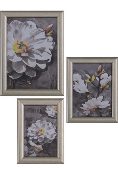 Hepsi Home Fotoğraf Çerçevesi 196 Gümüş 3'lü Set-68
