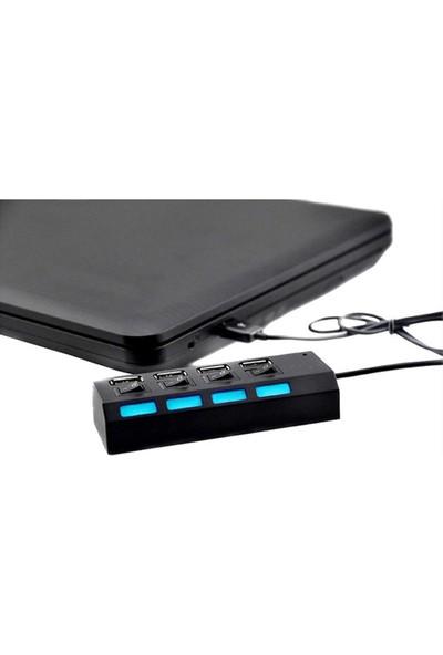 TriLine 4 Port USB Hub Çoklayıcı USB 2.0 On Off Tuşlu