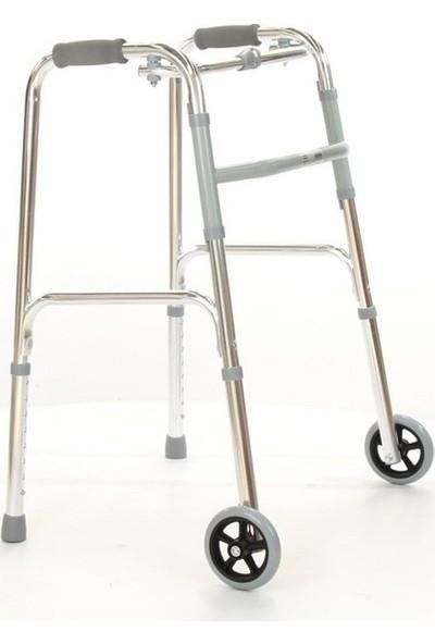 Case Tekerlekli Hareketli Walker Tekerli Wolker Hasta Yaşlı Yürüteci Katlanabilir