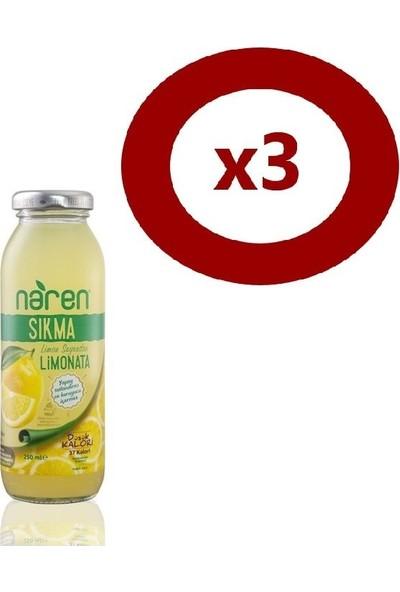Naren Sıkma Limonata 250ml 3'Lü Set