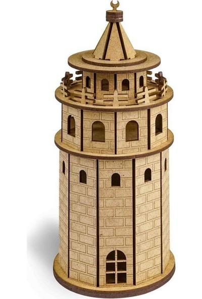 Ayd 3D Ahşap Boyama Maket Galata Kulesi