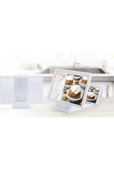 Ayd Büyüteç Özellikli Android ve İOS Uyumlu Telefon Standı Dock