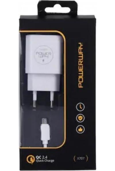 Powerway X-707 Micro USB Adaptörlü Hızlı Şarj Aleti
