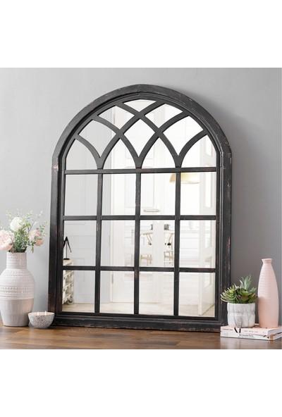 Beyma Home Eskitilmiş Siyah Antika Ayna