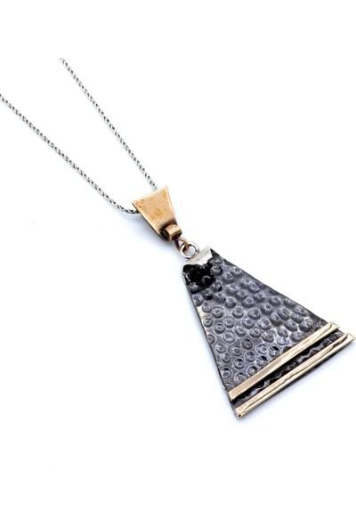 Akyüz Gümüş Çekiç Dövme El Yapımı Gümüş Kolye 040