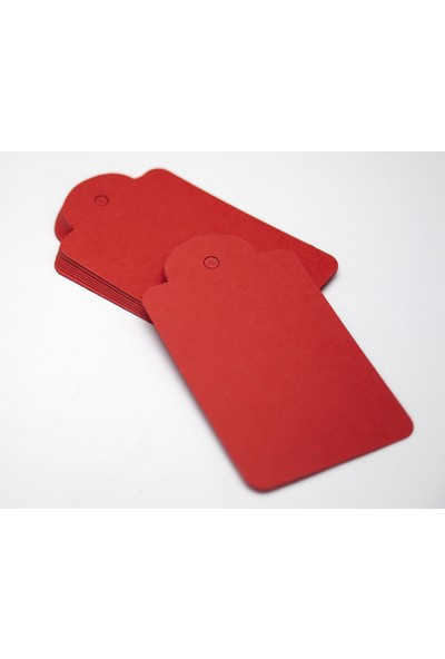 Rocopaper Etiket Kubbe Delikli 7.5 cm 100 Ad. - Kırmızı