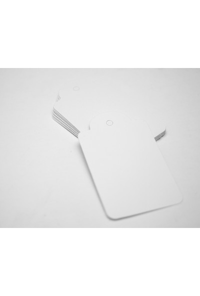 Rocopaper Etiket Kubbe Delikli 7.5 cm 100 Ad. - Beyaz