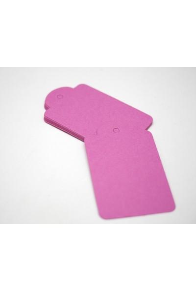 Rocopaper Etiket Kubbe Delikli 7.5 cm 100 Ad. - Fuşya