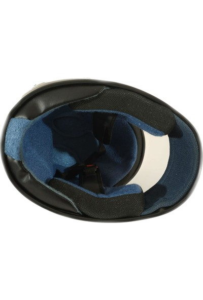 Pi İthalat Kask Retro Ful Face Motor Kaskı Ful Kapalı Kask Siyah