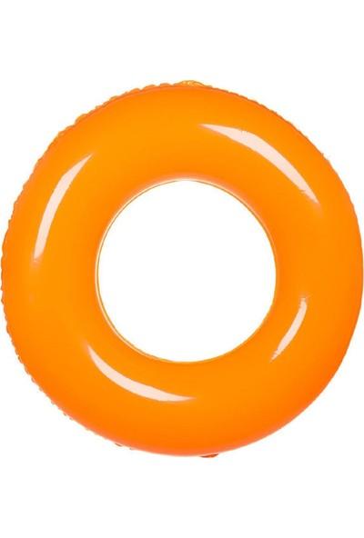 Jlong Jumbo Yüzme Simidi 90 Cm Yetişkin Simit Deniz Yatağı Şık Tasarım Turuncu