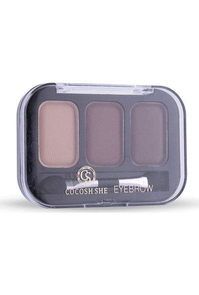 Cocosh She Eyebrow High-Brow True Color Kaş 3'lü Far 01 Light