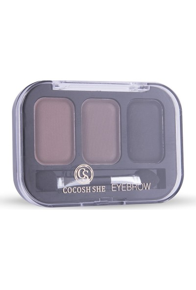Cocosh She Eyebrow High-Brow True Color Kaş 3'lü Far 03 Dark