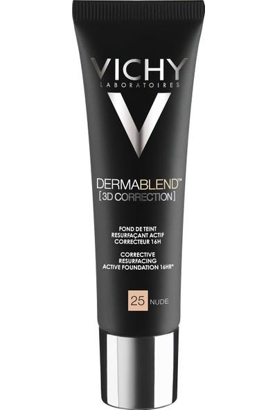 Vichy Dermablend 3 Boyutlu Düzeltici Fondöten Nude 25 30 ml