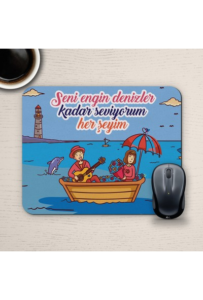 E-Hediyeci Özel Tasarım Romantik Mousepad - No15