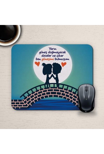 E-Hediyeci Özel Tasarım Romantik Mousepad - No5