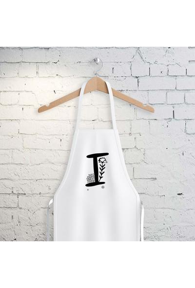 E-Hediyeci I Harfi Tasarımlı Mutfak Önlüğü