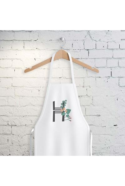 E-Hediyeci H Harfi Tasarımlı Mutfak Önlüğü
