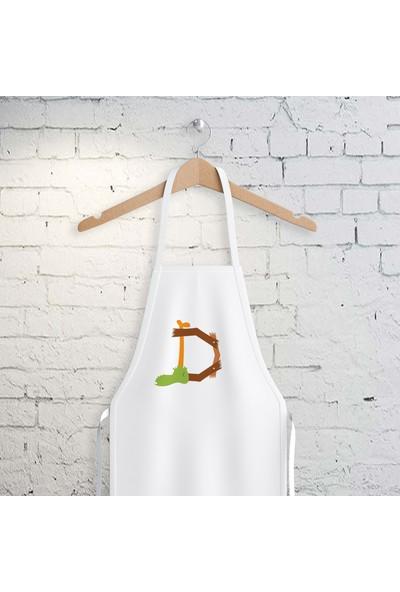 E-Hediyeci D Harfi Tasarımlı Mutfak Önlüğü